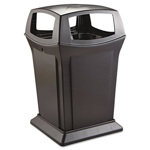 Rubbermaid Ranger Fire-Safe Container, Square, Structural Foam, 45gal, Black (RCP 9173-88 BLA)