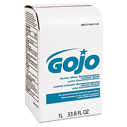 GOJO Antimicrobial Soap w/Chloroxylenol, Floral Balsam, 1000mL Refill, 8/Carton (GOJ 2112)