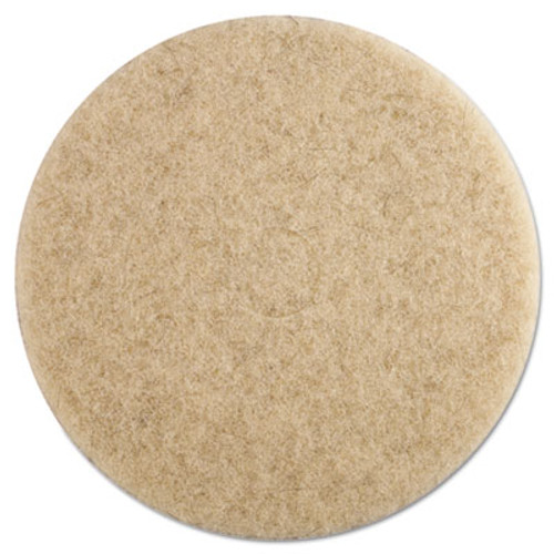 "Boardwalk Ultra High-Speed Floor Pads, 19"" Diameter, Natural Hair, Tan, 5/Carton (PAD 4019 NHE)"