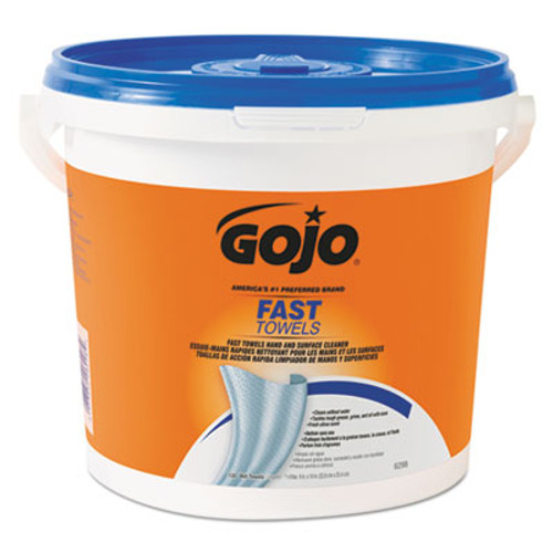 GOJO FAST TOWELS Hand Cleaning Towels, 7 3/4 x 11, 130/Bucket, 4 Buckets/Carton (GOJ 6298)