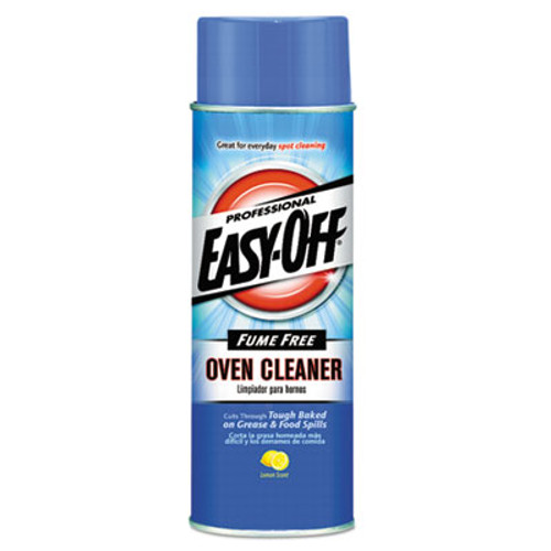 Professional EASY-OFF Fume Free Max Oven Cleaner, Foam, Lemon, 24oz Aerosol, 6/Carton (REC 74017)