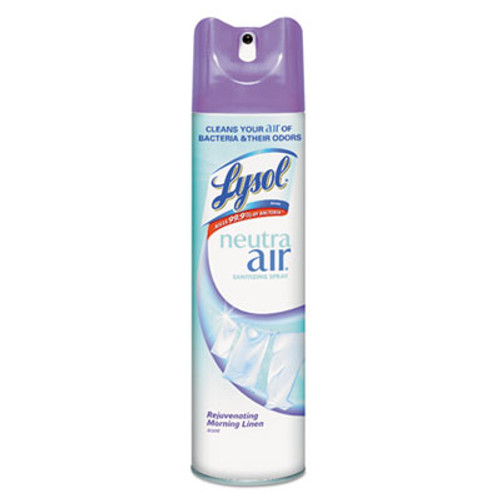 LYSOL Sanitizing Spray, Rejuvenating Morning Linen, 10oz Aerosol, 12/Carton (REC 79196)