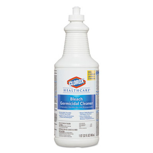 Clorox Healthcare Hospital Cleaner Disinfectant w/Bleach, 32oz Pull-Top Bottle (CLO 68832)