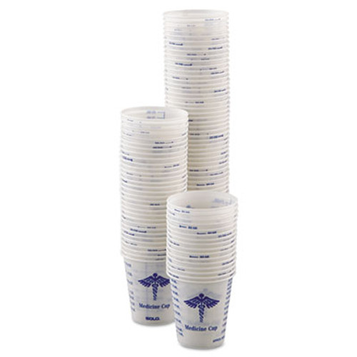 Dart Paper Medical & Dental Graduated Cups, 3oz, White/Blue, 100/Bag, 50 Bags/Carton (SCC R3)