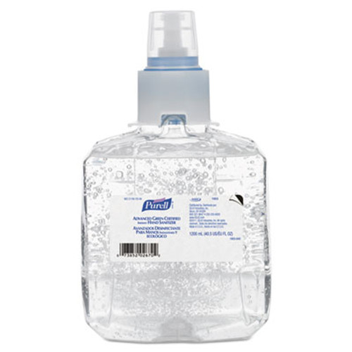 PURELL Advanced Green Certified Hand Sanitizer Refill, 1200mL, FragFree, 2/Carton (GOJ 1903-02)