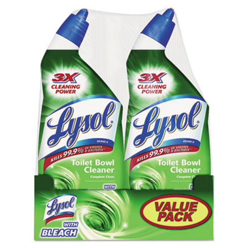 LYSOL Brand Disinfectant Toilet Bowl Cleaner with Bleach, Liquid, 24oz Twin Pack (REC 80078)