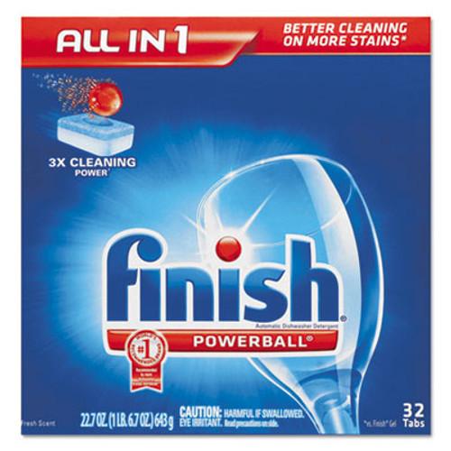 FINISH Powerball Dishwasher Tabs, Fresh Scent, 32/Box (REC 81049)