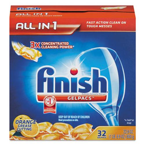 FINISH Dish Detergent Gelpacs, Orange Scent, Box of 32 Gelpacs (REC 81053)
