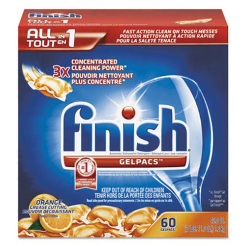 FINISH Dish Detergent Gelpacs, Orange Scent, Box of 60 Gelpacs (REC 81181)