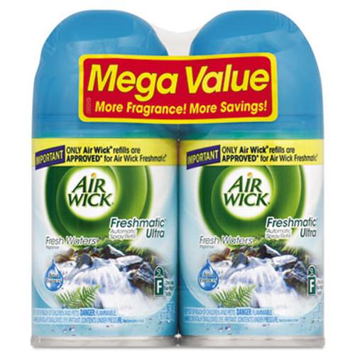 Air Wick Freshmatic Ultra Automatic Spray Refill, Fresh Waters, Aerosol, 6.17 oz, 2/Pack (REC 82093)