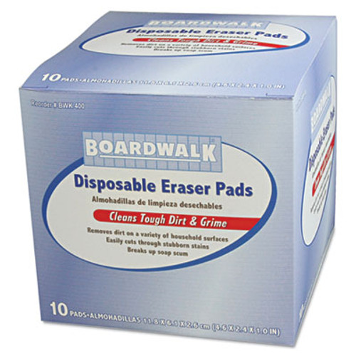 Boardwalk Disposable Eraser Pads, 10/Box (BWK400BX)