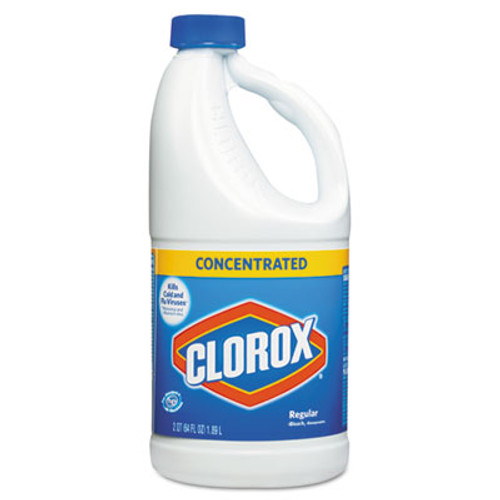 Clorox Regular Bleach with CloroMax Technology, 64 oz Bottle, 8/Carton (CLO 30769)