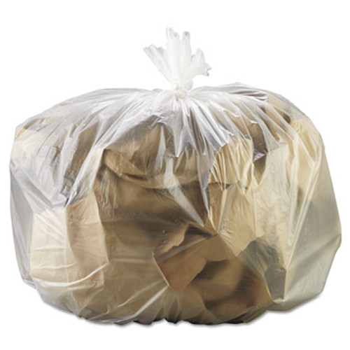 GEN High-Density Can Liner, 33 x 39, 33gal, 13mic, Natural, 25 Bags/RL, 10 Rolls/CT (GEN 333916)