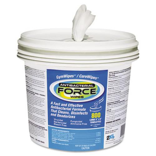 2XL FORCE Antibacterial Wipes, 8 x 6, White, 900 Wipes/Bucket, 2 Buckets/Carton (TXL L400)