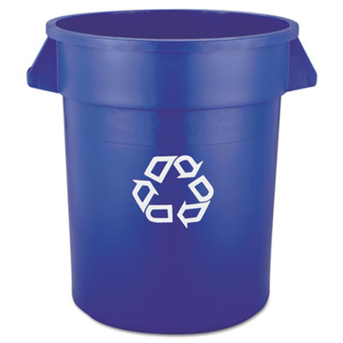 Rubbermaid Brute Recycling Container, Round, 20 gal, Blue (RCP 2620-73 BLU)