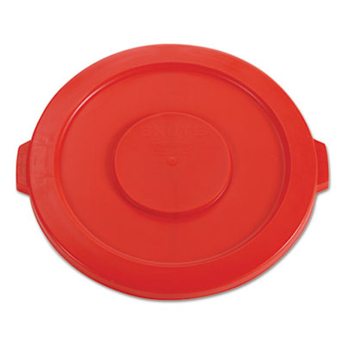 """Rubbermaid Round Flat Top Lid, for 32-Gallon Round Brute Containers, 22 1/4"""", dia., Red (RCP 2631 RED)"""