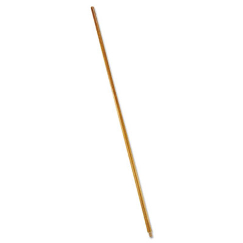 """Rubbermaid Commercial Wood Threaded-Tip Broom/Sweep Handle, 60"""", Natural (RCP 6361)"""