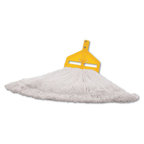Rubbermaid Finish Mop Heads, Nylon, White, Large (RCP T201-06)