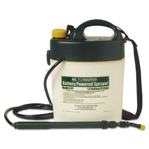 R. L. Flomaster Portable Battery-Powered Sprayer w/Telescoping Wand, 1.3 Gallon, Black/White (RLF 5BP)
