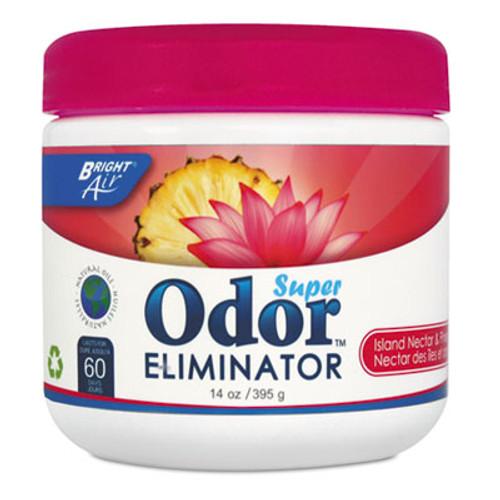 BRIGHT Air Super Odor Eliminator, Island Nectar and Pineapple, Pink, 14oz (BRI 900114)