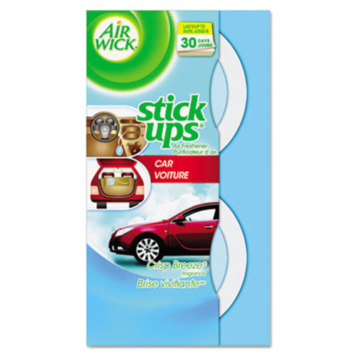Air Wick Stick Ups Car Air Freshener, 2.1oz, Crisp Breeze (REC 85823)