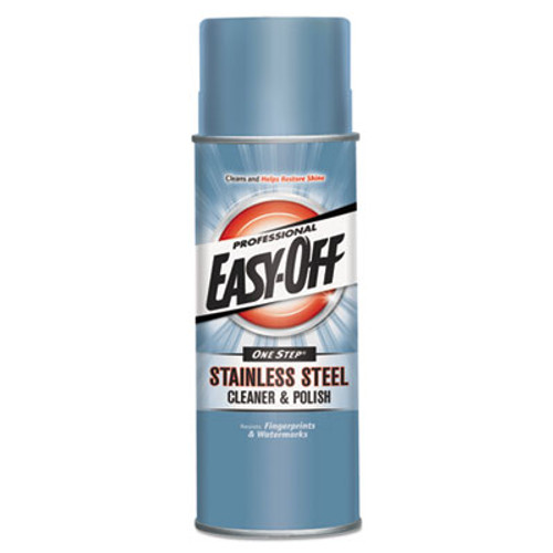 Professional EASY-OFF Stainless Steel Cleaner & Polish, Liquid, 17 oz. Aerosol Can (REC 76461)