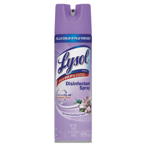 LYSOL Disinfectant Spray, Early Morning Breeze Scent, 19oz Aerosol (REC 80834)