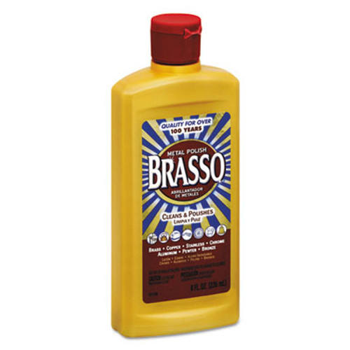 BRASSO Metal Surface Polish, 8 oz Bottle (REC 89334)