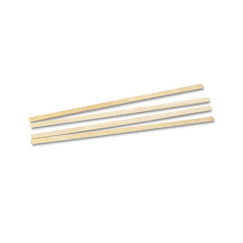 "Royal Paper Wood Coffee Stirrers, 5 1/2"" Long, Woodgrain, 1000 Stirrers/Box (RPPR810BX)"