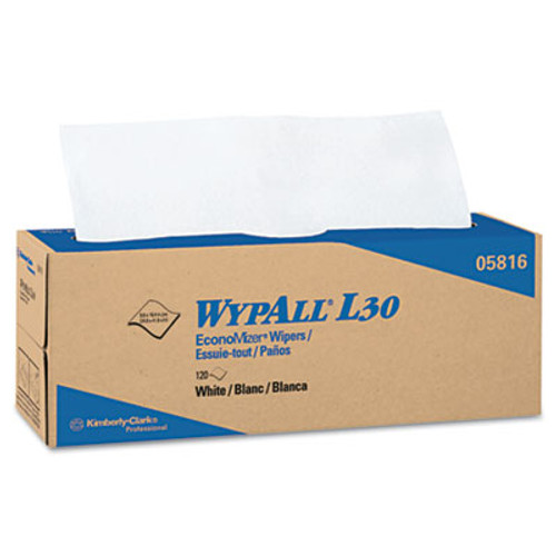 WypAll* L30 Towels, POP-UP Box, 9 4/5 x 16 2/5, 120/Box, 6 Boxes/Carton (KCC 05816)