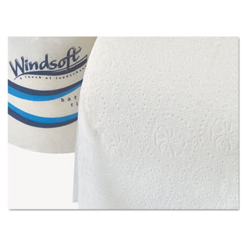 Windsoft Embossed Bath Tissue, 2-Ply, 400 Sheets/Roll, 18 Rolls/Carton (WIN 2440)