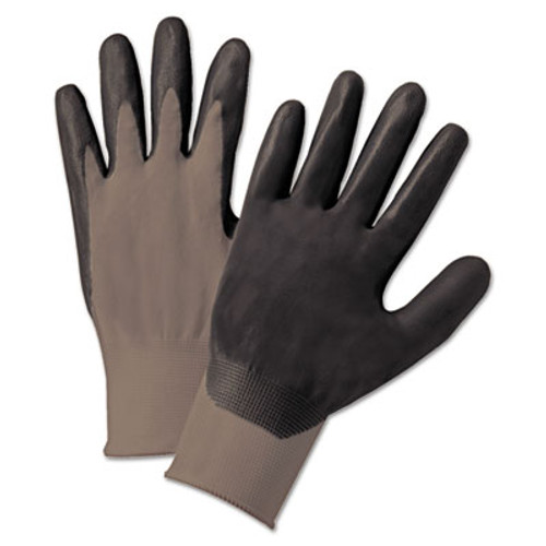 Anchor Brand Nitrile Coated Gloves, Gray/Dark Gray, Nylon Knit, Large, 12 Pairs (ANR6020L)