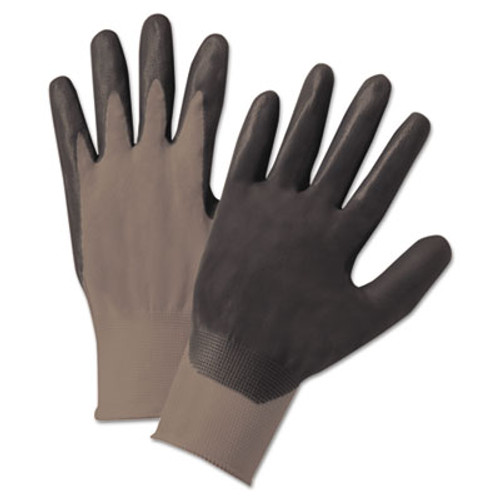 Anchor Brand Nitrile-Coated Gloves, Gray/Black, Nylon Knit, Medium, 12 Pairs (ANR6020M)