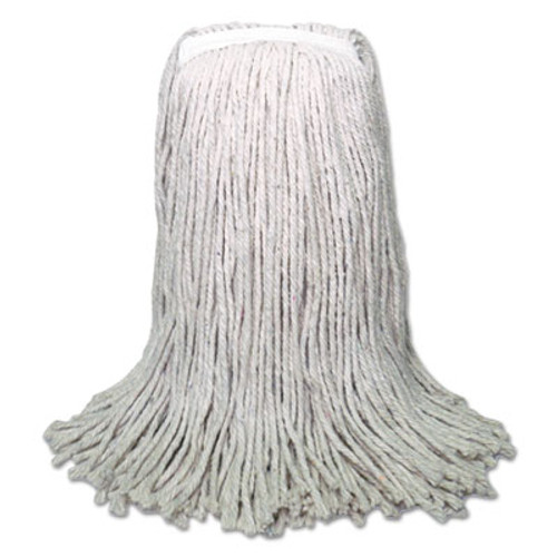Boardwalk Banded Mop Head, Cotton, Cut-End, White, 16oz, 12/Carton (BWK CM20016)