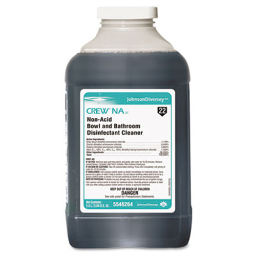 Diversey Crew Non-Acid Bowl and Bathroom Cleaner, 2.5L, 2/Carton, 2/Carton (DVO 5546264)