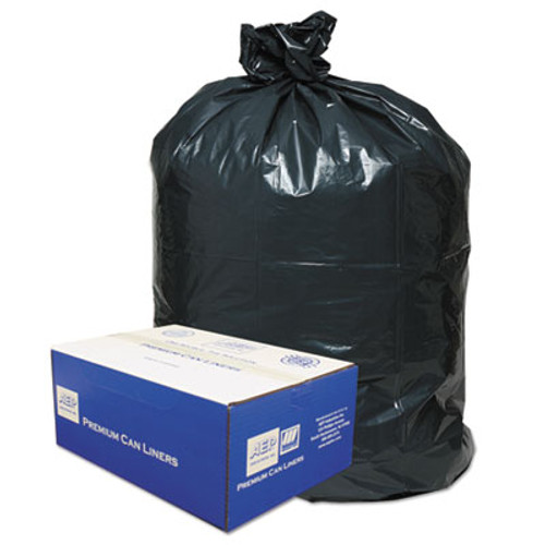Classic 2-Ply Low-Density Can Liners, 55-60gal, .9mil, 38 x 58, Black, 100/Carton (WEB 385822G)