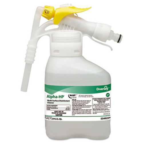 Diversey Alpha-HP Multi-Surface Disinfectant Cleaner, Citrus Scent, 1.5L Spray Bottle UOM (DVO 5549254)