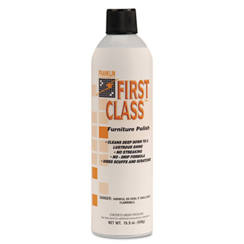 Franklin Cleaning Technology First Class Furniture Polish, Floral Scent, 18 oz Aerosol Can, 12/Carton (FRK F801015)