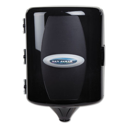 San Jamar Adjustable Centerpull Towel Dispenser, 9 5/8 x 9 3/8 x 13 3/8, Black Pearl (SAN T410TBK)