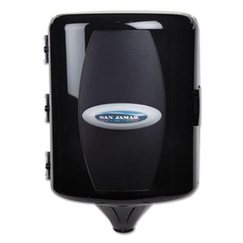 San Jamar Adjustable Centerpull Towel Dispenser, 9 5/8 x 9 3/8 x 13 3/8, Black Pearl (SAN T410TBK)