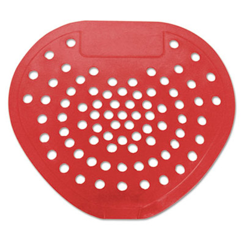 "HOSPECO Health Gards Vinyl Urinal Screen, 7 3/4""w x 6 7/8""h, Red, Cherry, Dozen (HOS 03901)"