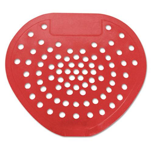 "HOSPECO Health Gards Vinyl Urinal Screen, 7 3/4""w x 6 7/8""h, Red, Cherry, Dozen (HOS 03901)"