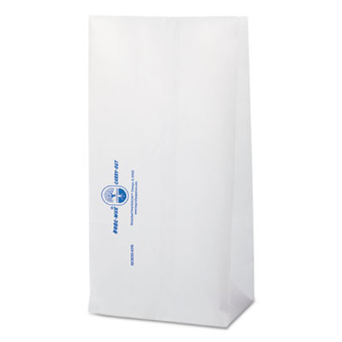 Bagcraft Dubl Wax Grease-Resistant Bakery Bags, 6 1/8 x 4 x 12 3/8, White, 1000/Carton (BGC 300298)