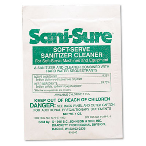 Diversey Sani Sure Soft Serve Sanitizer & Cleaner, Powder, 1 oz. Packet (DVO 90234)