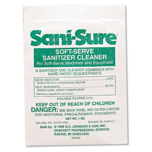 Diversey Sani Sure Soft Serve Sanitizer & Cleaner, Powder, 1 oz. Packet (DVO 90234)