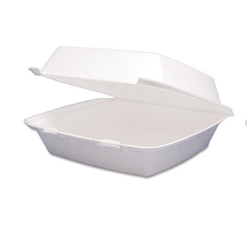 Dart Carryout Food Container, Foam Hinged 1-Comp, 9 1/2 x 9 1/4 x 3, 200/Carton (DCC 95HT1R)