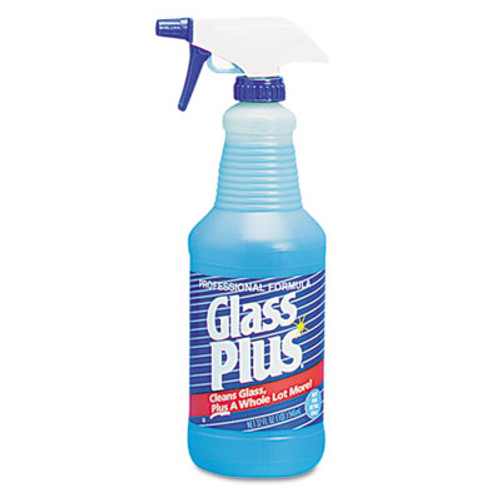 Glass Plus Glass Cleaner, 32oz Spray Bottle, 12/Carton (DVO 94378)