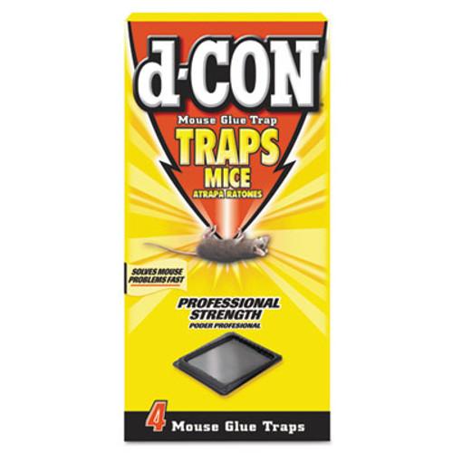 d-CON Mouse Glue Trap, Plastic, 4 Traps/Box, 12 Boxes/Carton (REC 78642)