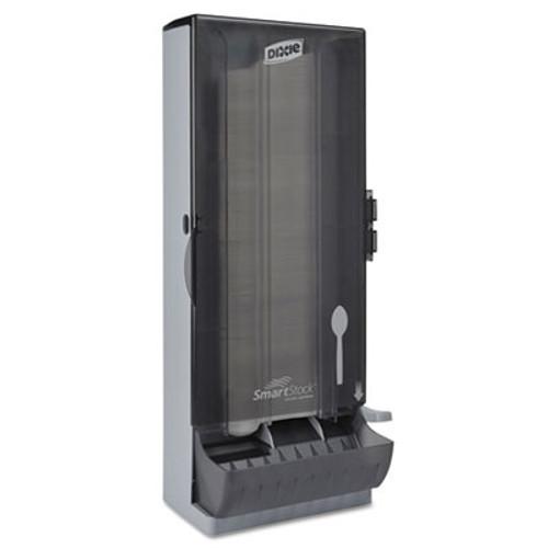 "Dixie SmartStock Utensil Dispenser, Spoon, 10"" x 8.78"" x 24.75"", Smoke (DXESSSPD120)"