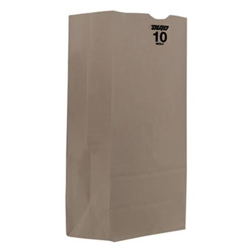 General #10 Paper Grocery Bag, 35lb White, Standard 6 5/16 x 4 3/16 x 12 3/8, 2000 bags (BAG GW10)